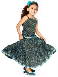 DotnDitto Singlet Top and Long Skirt Set - Sea Green