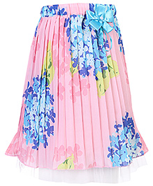 Babyhug Pleated Skirt With Floral Print