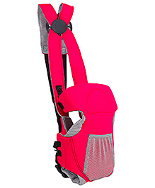 Fab N Funky 2 Way Baby Carriers Kangaroo Style With Front Pouch - Red