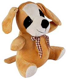 Soft Buddies Dog Soft Toy - Light Brown - 5 X 9 X 5 Inches