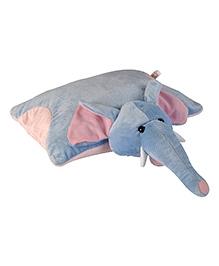 Soft Buddies Elephant Pillow Blue - Height 14 Inch