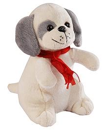 Soft Buddies Dog Soft Toy - Grey Ear - 5 X 8 X 4 Inches