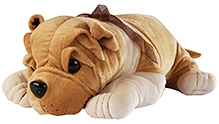 Soft Buddies Lying Bull Dog Soft Toy Brown - Extra Large - 16 X 20 X 7 Inches