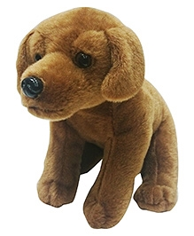 Soft Buddies Sitting Labrador Dog Soft Toy - Dark Brown - 7 x 8 x 10 Inches