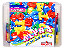 Zephyr Alpha Numero Set Magnetic Pieces - 49 Pieces