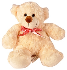 Soft Buddies Rose Bear Soft Toy - Cream