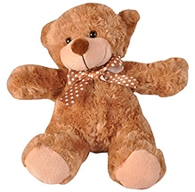 Soft Buddies Rose Bear Soft Toy - Brown