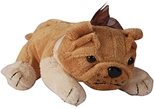Soft Buddies Lying Bull Dog Soft Toy Light Brown - Medium