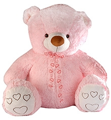 Soft Buddies Softy Bear Soft Toy Pink - Extra Large