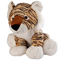 Soft Buddies Wild Animal Tiger Soft Toy Brown - Large - 10 X 12 X 10 Inches