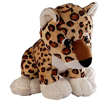 Soft Buddies Wild Animal Leopard Soft Toy Brown - Large - 10 X 12 X 10 Inches