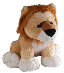 Soft Buddies Wild Animal Lion Soft Toy Brown - Large - 10 X 12 X 10 Inches