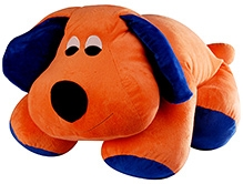 Soft Buddies Floppy Dog Soft Toy - Orange