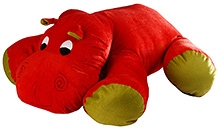 Soft Buddies Floppy Hippo Soft Toy - Red
