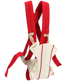 Fab N Funky 4 Way Baby Carrier - Red And Cream