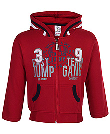 Cucumber Full Sleeves Hooded Sweatshirt - Maroon