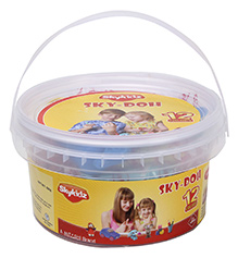 Mitashi Sky Doh With 12 Color Play Dough - 180 gm