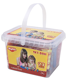 Mitashi Sky Doh With 24 Color Play Dough - 360 gm - 3 Years +