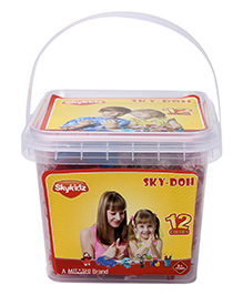 Mitashi Sky Doh With 12 Color Play Dough - 240 gm - 3 Years +