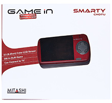 Mitashi Smarty Chotu Gaming Console Red - 2.5 Inches