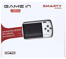 Mitashi Smarty Chotu Gaming Console White - 2.5 Inches