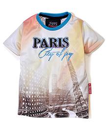 Tippy Half Sleeves T-Shirt - Paris Print