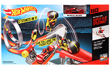 Hotwheels Moto Track Stars Super Flip Speedway Track Set