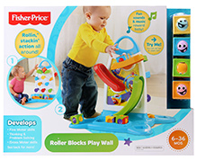 Fisher-Price Roller Blocks Multicolor Play Wall