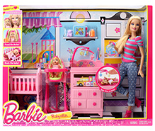 Barbie Babysitter Doll Playset