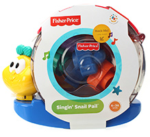 Fisher Price Bee-Bop Buildin Singing Snail Pail Multicolor