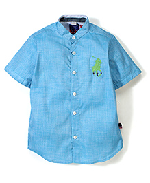 New York Polo Academy Half Sleeves Shirt - Turquoise