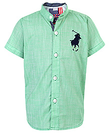New York Polo Academy Half Sleeves Shirt - Green