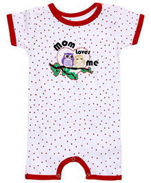 Babyhug Short Sleeves Romper - Mom Loves Me Print