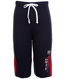 Taeko Track Pant With Drawstring - Navy Blue and Red