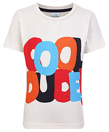 Babyhug T-Shirt Cool Dude Print - White
