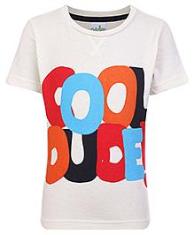 Babyhug T-Shirt Half Sleeves - Off White