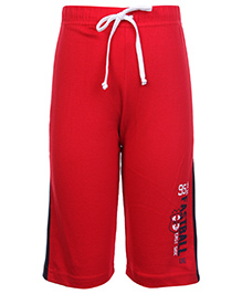 Taeko Track Pant With Drawstring - Red and Navy Blue