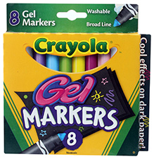 Crayola Washable Gel Markers - 8 Colours