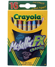 Crayola Metallic Crayons - 16 Colours