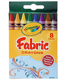 Crayola Fabric Crayons - 8 Colours