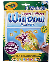 Crayola Washable Crystal Effects Window Markers - 8 Markers