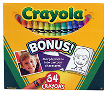 Crayola Bonus 64 Crayons With Sharpener