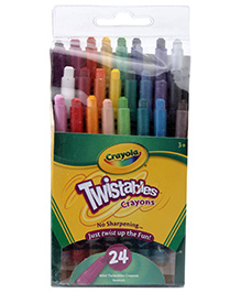 Crayola Twistables Crayons - 24 Colours