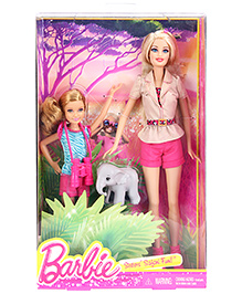 Barbie Sisters Jungle Safari With Elephant - Height 22 cm