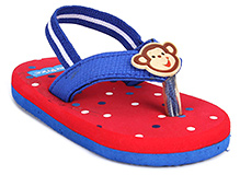 Fisher Price Dots Printed Flip Flop With Elastic Strap - Blue And Red