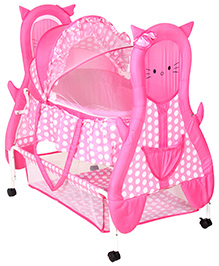 Fab N Funky Baby Cradle Pink - Kitty Design
