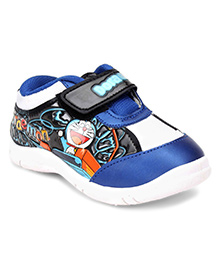Doraemon Casual Shoe With Velcro Strap - Blue and Black