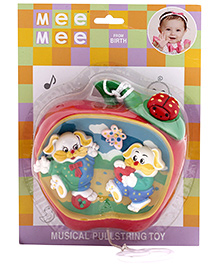 Mee Mee Musical Pullstring Toy Apple Shape - Multi Color
