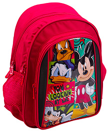 Mickey Mouse And Friends School Bag Red - 14 Inches