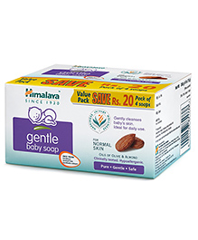 Himalaya Herbal Gentle Baby Soap Value Pack Of 4 - 75 Gm - Enriched With Olive And Almond Oil